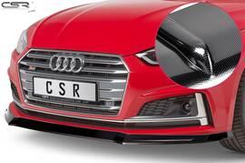 Audi A5 F5 S-Line / S5 F5 16-19 Накладка на передний бампер carbon look