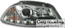 Seat Ibiza 6L 02-08 Фары Devil eyes, Dayline хром
