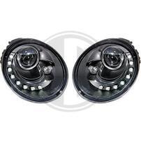 VW Beetle 98-05 Фары Devil eyes, Dayline черные