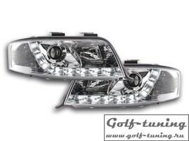 Audi A6 4B 01-04 Фары Devil eyes, Dayline хром