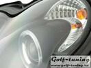 Mercedes W203 00-07 Фары с ангельскими глазками и линзами черные