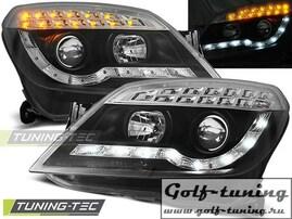 Opel Astra H Фары Devil eyes, Dayline с светодиодным поворотником черные