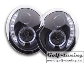 Mini Cooper R50 01-06 Фары Devil eyes, Dayline черные