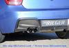BMW F20/F21 11-15 Диффузор для заднего бампера черный
