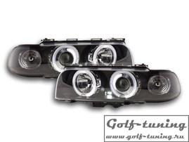 BMW E38 95-98 Фары с линзами и ангельскими глазками черные