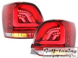 VW Polo 6R Фонари светодиодные, красно-белые