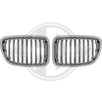 BMW X1 09-12 Решетки радиатора (ноздри) хром