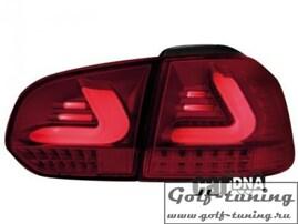 VW Golf 6 Фонари светодиодные, красно-тонированные с светодиодным поворотником