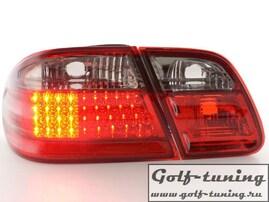 Mercedes W210 95-98 Фонари светодиодные, красно-тонированные