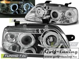 Chevrolet Aveo 03-06 Фары Angel eyes хром