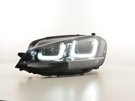 VW Golf 7 12-17 Фары в стиле GTI с хром полосой