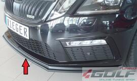 Skoda Octavia RS 5E Седан/Универсал 17- Накладка на передний бампер /сплиттер