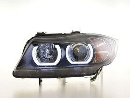 BMW 3er E90/E91 05-08 Фары с LED скобками под ксенон черные