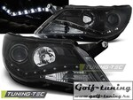 VW Tiguan 07-11 Фары Devil eyes, Dayline черные