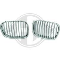 BMW E39 95-00 Решетки радиатора (ноздри) хром