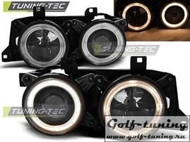 BMW E32/E34 Фары Angel Eyes черные