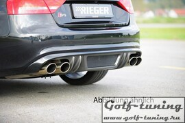 Audi A5 B8/B81 07-11 Купе/Кабрио Накладка на задний бампер/диффузор