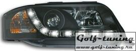 Audi A6 4B 00-04 Фары Devil eyes, Dayline черные