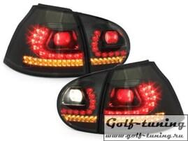 VW Golf 5 Фонари светодиодные, тонированные R-Line Style