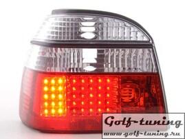 VW Golf 3 Фонари светодиодные, красно-белые