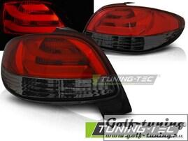 Peugeot 206 98- Фонари светодиодные, lightbar design, красно-тонированные
