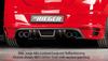 Opel Astra H GTC Накладка на задний бампер Carbon Look