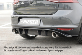 VW Golf 7 GTI 12-17 Диффузор для заднего бампера carbon look