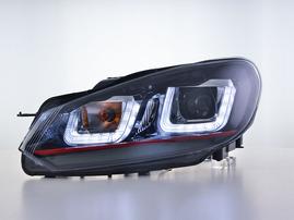 VW Golf 6 08-12 Фары с LED скобками черные GTI-Look