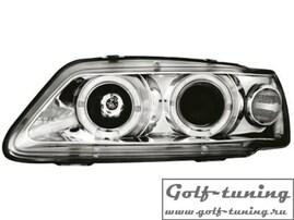 Peugeot 306 93-97 Фары с линзами и ангельскими глазками хром