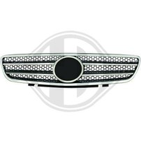 Mercedes R230 01-06 Решетка радиатора с хром полосками в стиле AMG