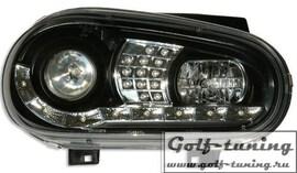 VW Golf 4 Фары Devil eyes, Dayline черные с светодиодным поворотником