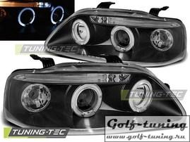 Chevrolet Aveo 03-06 Фары Angel eyes черные
