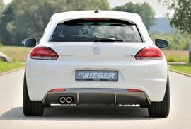 VW Scirocco 08-14/14- R-Line Диффузор для заднего бампера carbon look