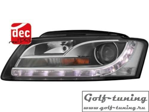 Audi A5 06-08 Фары Devil eyes, Dayline черные SWA15DLGXB