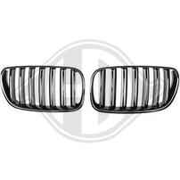 BMW X3 06-10 Решетки радиатора (ноздри) глянцевые