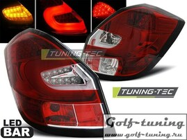 Skoda Fabia 07-14 Фонари светодиодные, красно- белые Lightbar с светодиодным поворотником