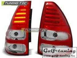 Toyota Land Cruiser 120 03-09 Фонари светодиодные, красно-белые