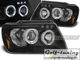 Jeep Grand Cherokee 99-05 Фары Angel eyes черные