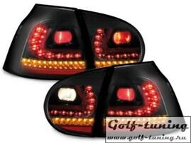 VW Golf 5 Фонари светодиодные, черные R-Line Style