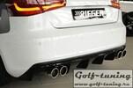 Audi A3 8V 12-16 3/5Дв Диффузор для заднего бампера глянцевый