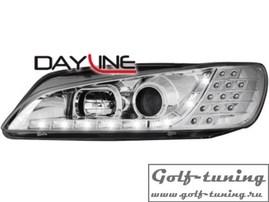 Peugeot 306 96-00 Фары Devil eyes, Dayline хром с светодиодным поворотником