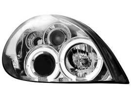 Citroen Xsara 99-04 Фары с ангельскими глазками хром