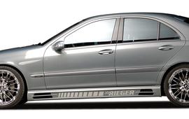 Mercedes W203 Накладки на пороги