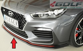 Hyundai i30 N (PDE) 17- Накладка на передний бампер/сплиттер