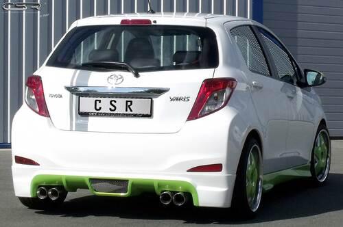 Toyota Yaris XP13 11- Накладка на задний бампер/диффузор