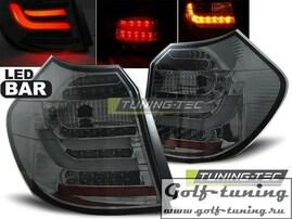 BMW E81/E87 04-07 Фонари светодиодные, тонированные Lightbar с светодиодным поворотником
