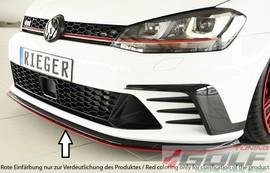 VW Golf 7 GTI Clubsport 16- Сплиттер для переднего бампера черный