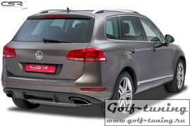 VW Touareg 10-15 Накладка на задний бампер