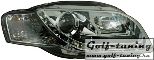 Audi A4 B7 04-08 Фары Devil eyes, Dayline хром