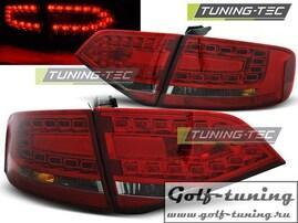 Audi A4 B8 08-11 Седан Фонари светодиодные, красно-тонированные Lightbar